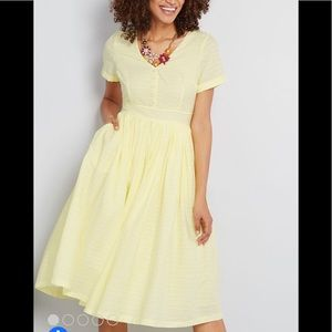 Modcloth Fabulous Fit and Flare Shirt Dress Size 4